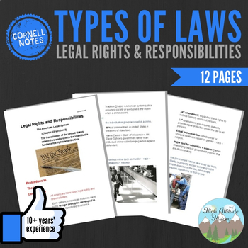 Cornell Notes (Rights + Responsibilities) AMERICAN LEGAL SYSTEM