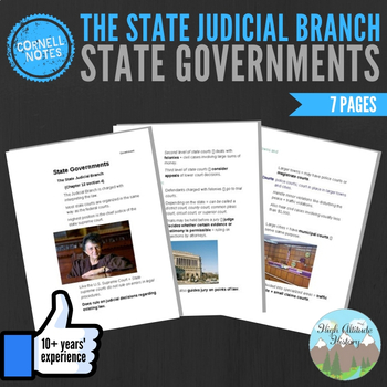 Cornell Notes (State Governments) The State Judicial Branch