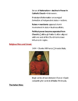Cornell Notes (The Counter/Catholic Reformation)