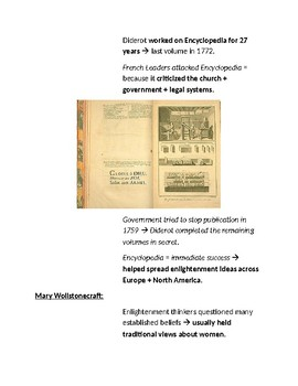 Cornell Notes (The Enlightenment)
