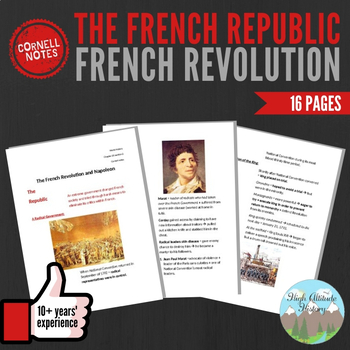 Cornell Notes (The French Republic) French Revolution