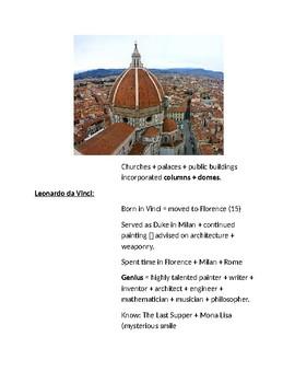 Cornell Notes (The Italian Renaissance) World History