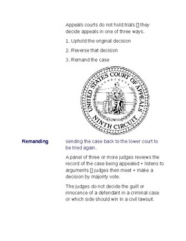 Cornell Notes (The Judicial Branch) How Federal Courts Are Organized