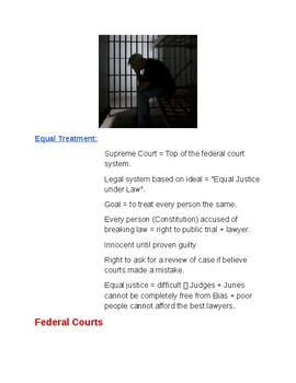 Cornell Notes (The Judicial Branch) The Federal Courts