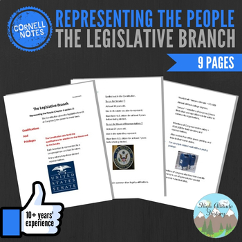 Cornell Notes (The Legislative Branch) Representing the People