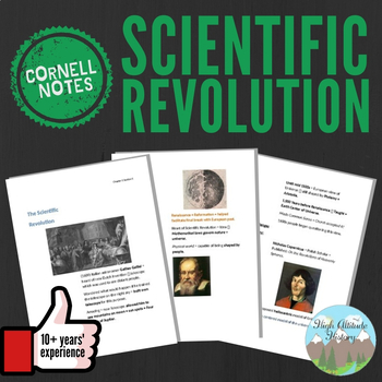 Cornell Notes (Scientific Revolution) World History