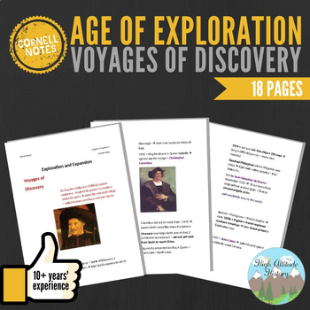 Cornell Notes (Voyages of Discovery) Age of Exploration