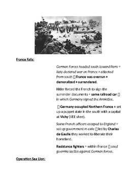 Cornell Notes WORLD WAR II (The Axis Advances) WW2