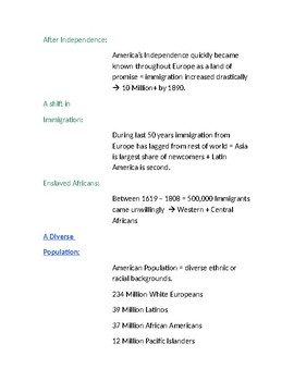 Cornell Notes (What is Civics?) The Diversity of Americans