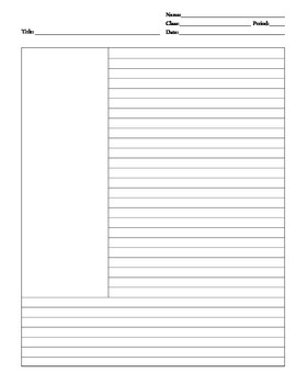 Cornell-Style Note Paper