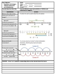 Cornell Style Notes for 6th Grade Mathematics - Working wi