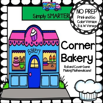 Corner Bakery:  NO PREP Community Themed Flat Shape Roll and Cover Game