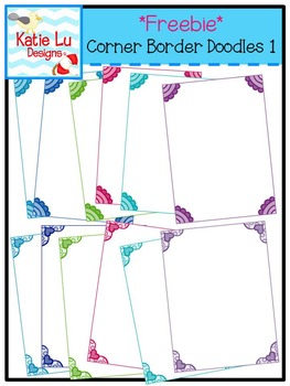 Corner Border Doodles 1 Freebie