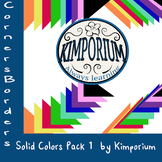 Corner Border Solid Colors Pack 1