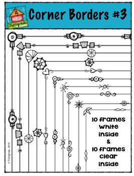 Corner Borders #3 {P4 Clips Trioriginals Digital Clip Art}