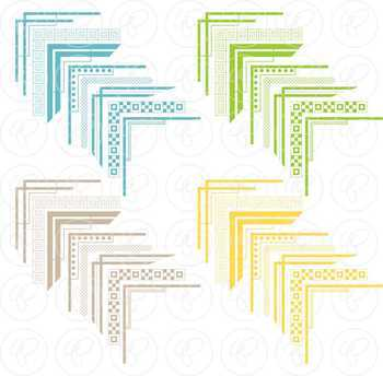 Corner Borders Mega Pack Digital Borders Clipart by Poppydreamz