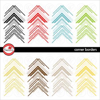Corner Borders Mega Pack Digital Borders Clipart by Poppydreamz