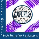 Corner Borders Purple Stripes Pack 1