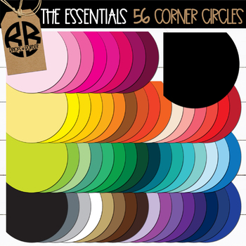 Corner Circles Page Accents Clipart