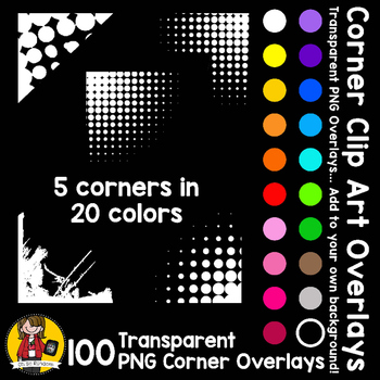 Corner Clip Art Overlays Accents BUNDLE {Clip Art for CU}