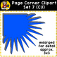 Corner Clip Art Overlays Set 7 {Clip Art for CU}