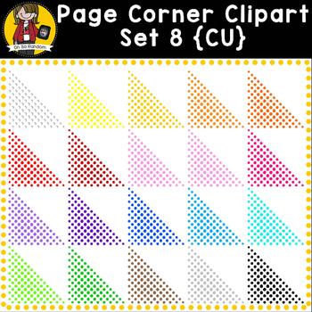 Corner Clip Art Overlays Set 8 {Clip Art for CU}