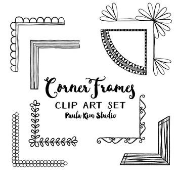Frame Clip Art - Fancy Corners