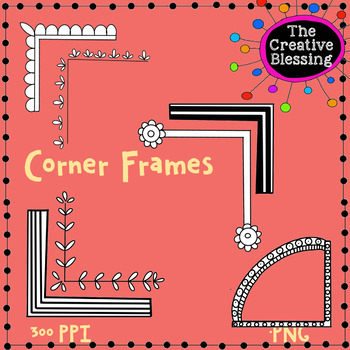 Corner Frames Clip Art Set