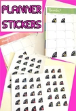 Corner Planner Stickers with Editable Text - Perfect for E