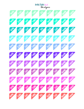 Corner Stickers for Teacher Planner Boxes