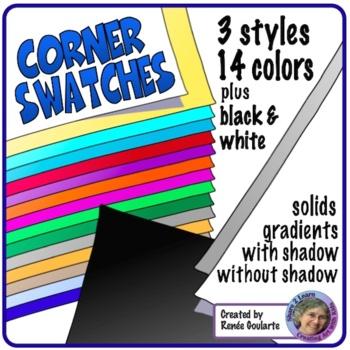 Whimsical Doodle Frames Corner Swatches Clip Art