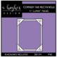 Corner Tab Rectangle Frames Clipart {A Hughes Design}