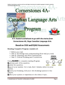 Cornerstones 4A Gage Language Program