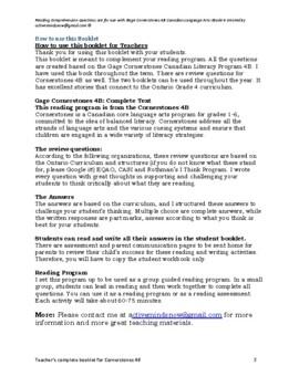Cornerstones 4B Gage Language Program Reading Response Program