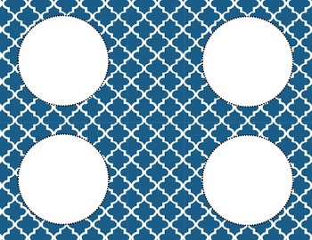 Cornflower Blue Tile Classroom Labels and Tags