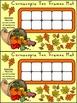 Fall Activities: Cornucopia Fall Ten Frames Math Activity