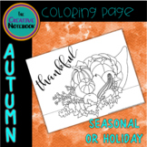 Cornucopia Coloring Page | Autumn, Thanksgiving Activities