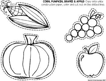Cornucopia Craft Template --- Thanksgiving Cornucopia Craft ***FREEBIE***