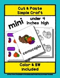 Cornucopia - Cut & Paste Craft - Mini Craftivity for Pre-K