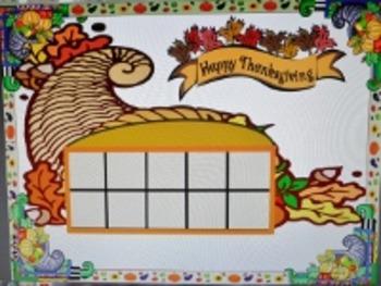 Thanksgiving Tens Frames & Math Activities - Cornucopia & the Mayflower
