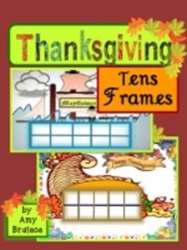 Thanksgiving Tens Frames & Math Activities - Cornucopia &
