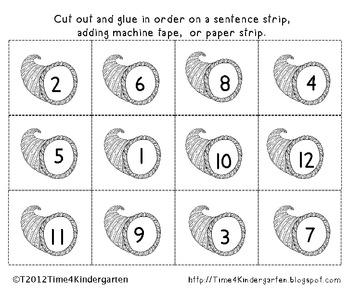 Cornucopia Number Sequence 1-12
