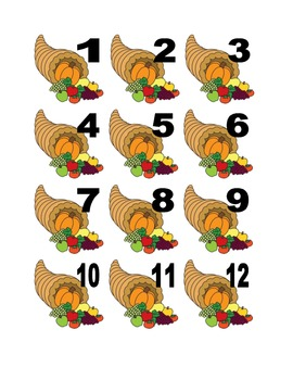 Cornucopia Numbers for Calendar or Counting Activity