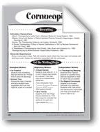 Cornucopia Shape Book