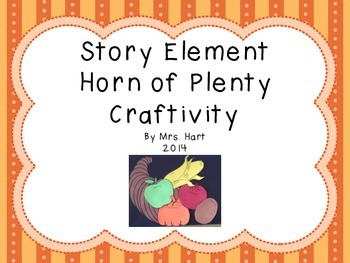 Horn of Plenty Story Elements Craft-ivity