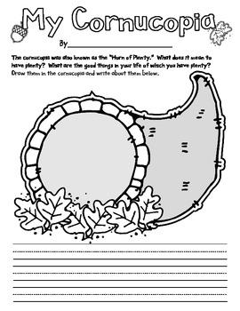 Cornucopia - Thankfulness Writing Prompt