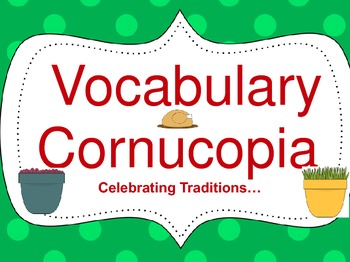 Cornucopia Vocabulary