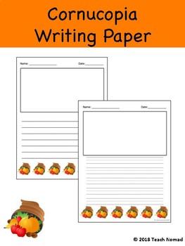 Cornucopia Writing Paper