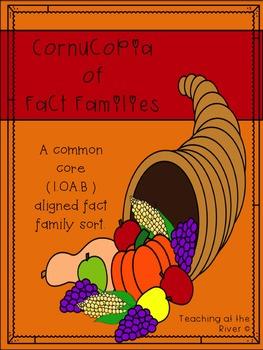 Cornucopia of Fact Families - Common Core Aligned Thanksgi