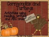 Second Grade Thanksgiving Reading Activities with Cornucopias and Turkeys